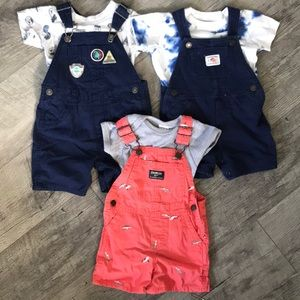 3 overall sets 12 months baby boy carters oshkosh